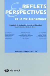 Reflets et perspectives de la vie économique. n° 41, Pauvreté et exclusion sociale en Belgique