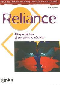 Reliance. n° 20, Ethique, décision et personnes vulnérables
