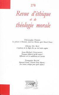 Revue d'éthique et de théologie morale. n° 278