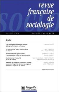 Revue française de sociologie. n° 54-1
