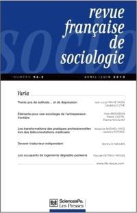 Revue française de sociologie. n° 54-2