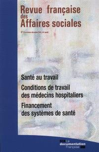 Revue française des affaires sociales. n° 4 (2010)