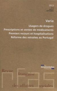 Revue française des affaires sociales. n° 3 (2013)