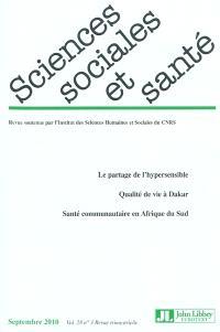 Sciences sociales et santé. n° 3 (2010)