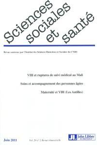 Sciences sociales et santé. n° 2 (2011)