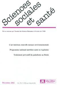 Sciences sociales et santé. n° 4 (2011)