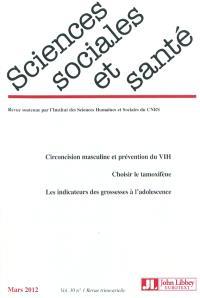 Sciences sociales et santé. n° 1 (2012)