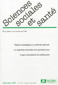 Sciences sociales et santé. n° 3 (2012)