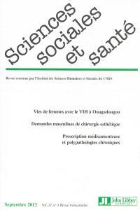 Sciences sociales et santé. n° 3 (2013)