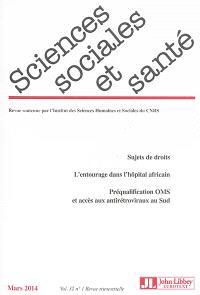 Sciences sociales et santé. n° 32