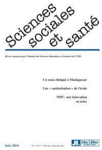 Sciences sociales et santé. n° 2 (2014)