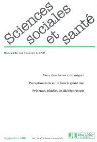 Sciences sociales et santé. n° 3 (2008)
