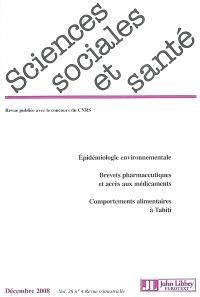 Sciences sociales et santé. n° 4 (2008)