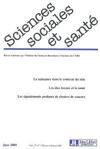 Sciences sociales et santé. n° 2 (2009)