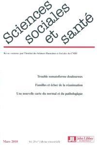 Sciences sociales et santé. n° 28