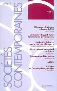 Sociétés contemporaines. n° 71