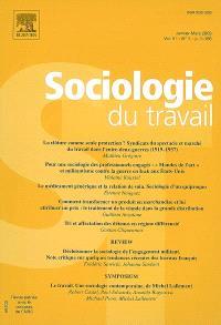 Sociologie du travail. n° 1 (2009)