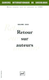 Cahiers internationaux de sociologie. n° 116, Retour sur auteurs