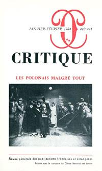 Critique. n° 440-441, Les Polonais malgré tout