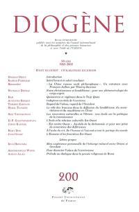 Diogène. n° 200, D'Est en Ouest, civilisations en miroir