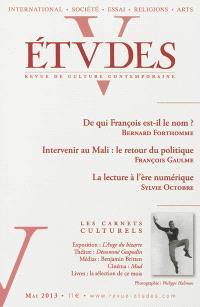 Etudes. n° 418-5