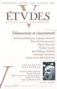 Etudes. n° 416-1, Démocratie et citoyenneté