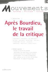 Mouvements. n° 24, Pierre Bourdieu et après : le travail de la critique