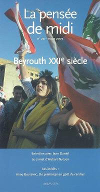 Pensée de midi (La). n° 20, Beyrouth XXIe siècle
