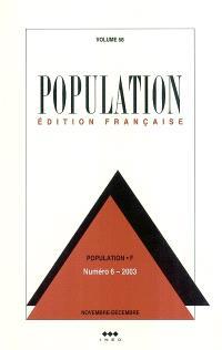 Population. n° 6 (2003), Facteurs d'évolution de la fécondité en Afrique