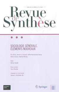 Revue de synthèse. n° 133, Sociologie générale : éléments nouveaux