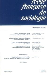 Revue française de sociologie. n° 48-1