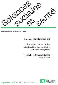 Sciences sociales et santé. n° 3 (2002)
