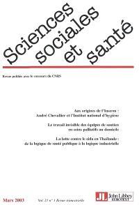 Sciences sociales et santé. n° 1 (2003)