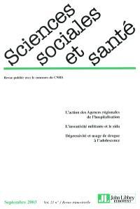 Sciences sociales et santé. n° 3 (2003)