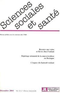 Sciences sociales et santé. n° 4 (2004)