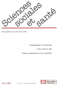 Sciences sociales et santé. n° 1 (2005)
