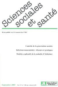 Sciences sociales et santé. n° 3 (2005)