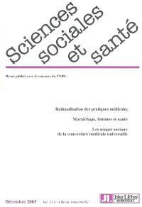 Sciences sociales et santé. n° 4 (2005)