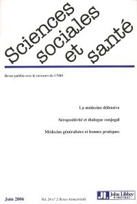 Sciences sociales et santé. n° 2 (2006)