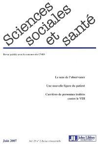 Sciences sociales et santé. n° 2 (2007)