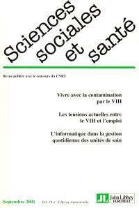 Sciences sociales et santé. n° 3 (2001)