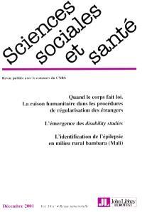 Sciences sociales et santé. n° 4 (2001)