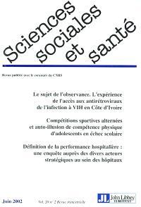 Sciences sociales et santé. n° 2 (2002)