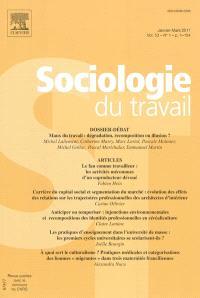 Sociologie du travail. n° 1 (2011)