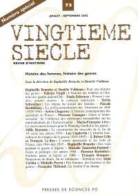 Vingtième siècle. n° 75, Histoire des femmes, histoire des genres