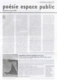 Autres & pareils, la revue. n° 31, Poésie espace public : de janvier à juin 2009