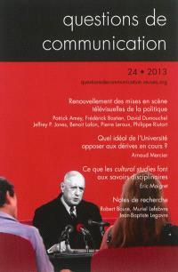 Questions de communication. n° 24, Renouvellement des mises en scène télévisuelles de la politique