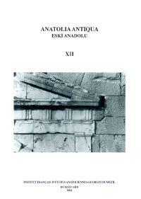 Anatolia antiqua = Eski Anadolu. n° 12