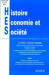 Histoire, économie & société. n° 2 (2001), La gloire à l'époque moderne