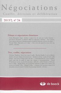 Négociations. n° 2 (2015), Ethique et négociations climatiques. Tiers, conflits, négociations